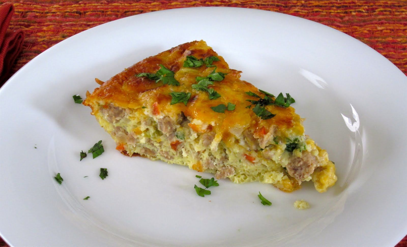 cheddar and green onions baked mini frittata with mushrooms cottage ...