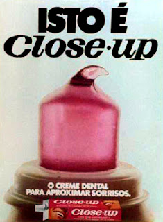 propaganda creme dental Close Up - 1971; os anos 70; propaganda na década de 70; Brazil in the 70s, história anos 70; Oswaldo Hernandez;