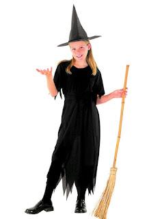 Hekse kostume sort