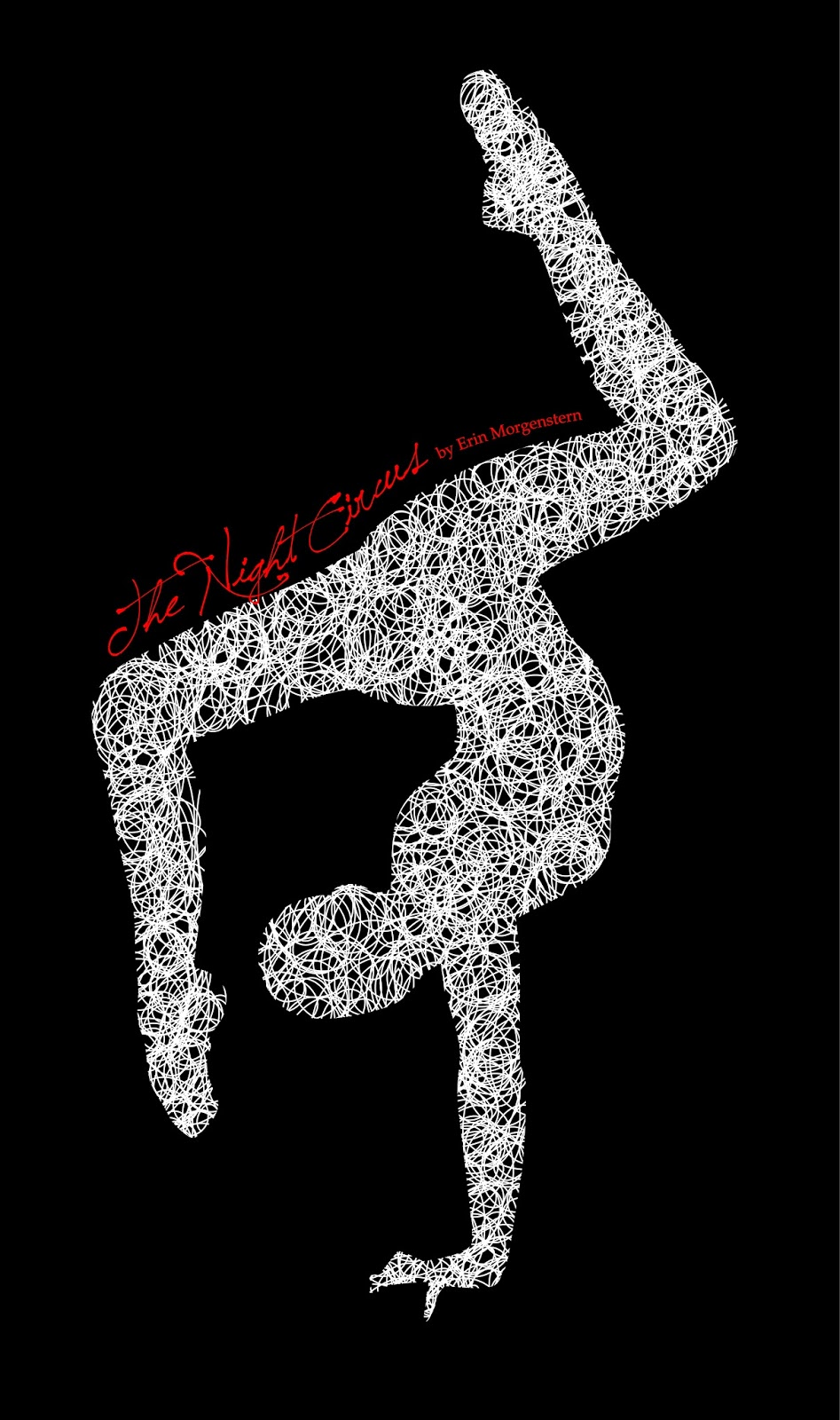 the-night-circus-book-cover, erin-morganstern-nanowrimo, black-and-white-and-red, contortionist-graphic