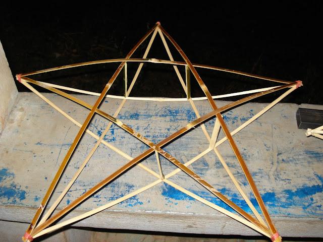 estrella de bambú