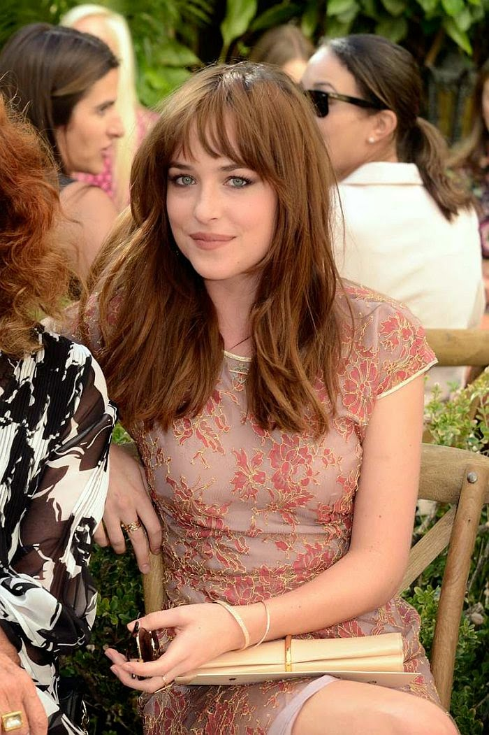 Dakota Johnson was doing so much better on this as she defied the gravity on the CFDA Vogue Fashion Fund party at Los Angeles, USA on Tuesday, October 21, 2014.