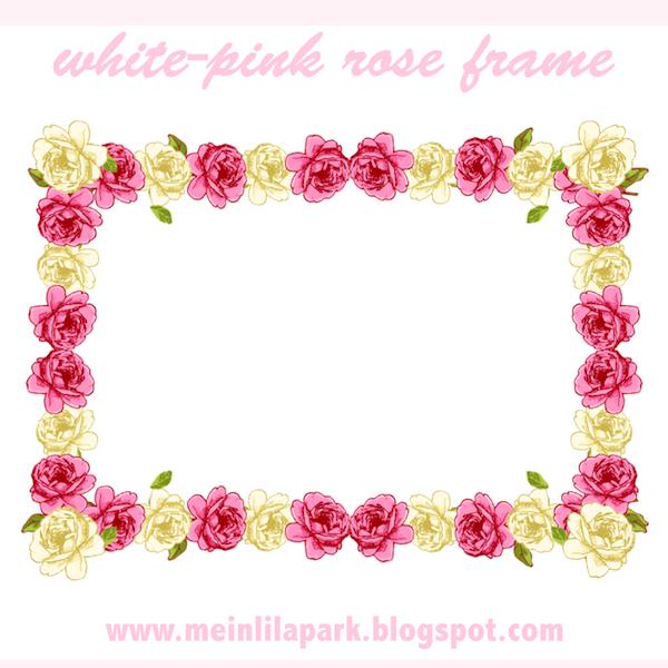 free digital rose frame png + printable tags - Rosenrehmen - freebie ...