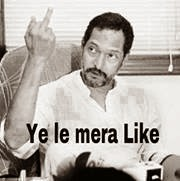 middle finger salute by Nana patekar