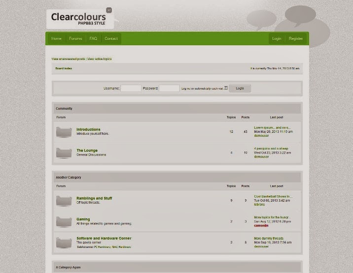 Clear Colours PHPBB3 Skin