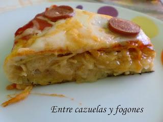 Tortilla pizza...