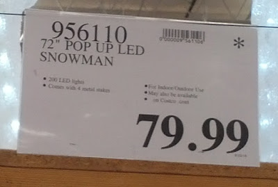 Deal for a 72in Pop Up Snowman at Costco