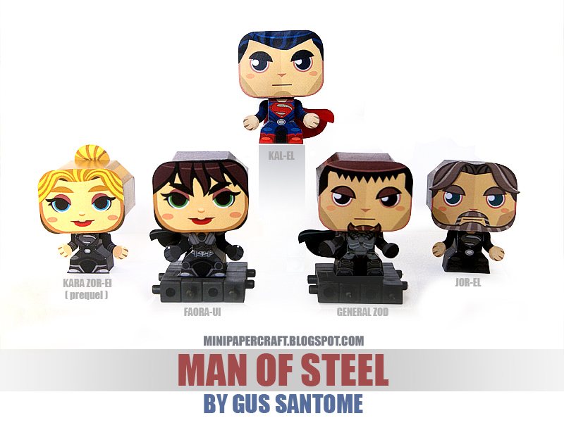 Mini Man of Steel Paper Toys