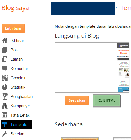 cara ganti template blogspot 2