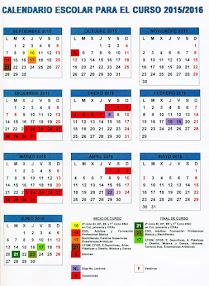 Calendario Escolar 15-16
