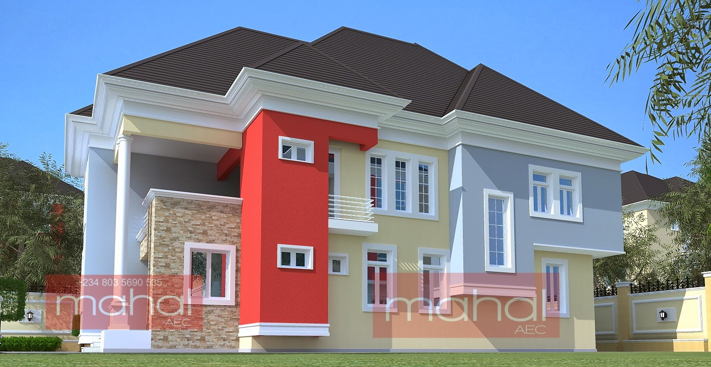 Contemporary nigerian residential architecture 4 bedroom for Modern duplex house plans in nigeria