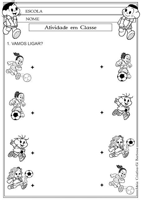 Atividade Coordenação Motora Educação Infantil