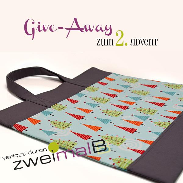 :: zweimalB :: Give-Away zum 2. Advent - Verlosung einer weihnachtlichen Einkaufstasche