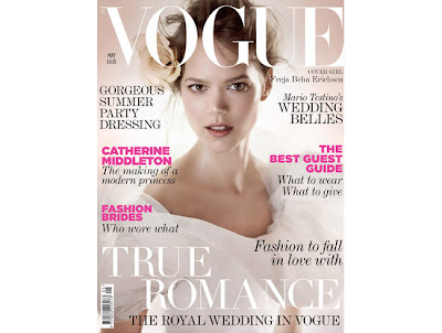 royal wedding vogue uk cover freja beha erichsen