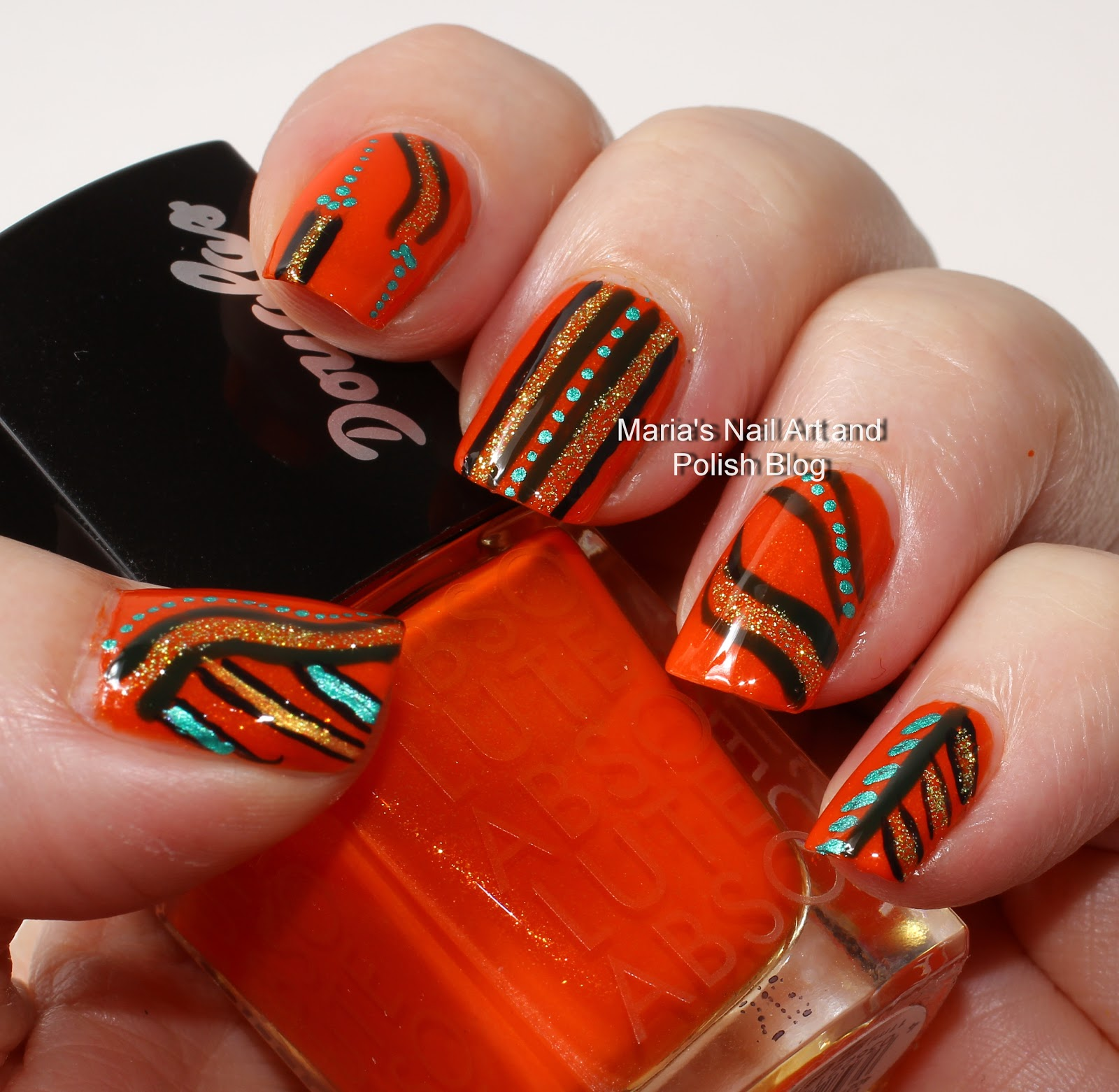 Marias Nail Art And Polish Blog Flushed With Stripes And: Marias Nail Art And Polish Blog: Halloween Abstract