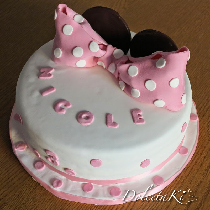 torta decorata pdz fiocco minnie