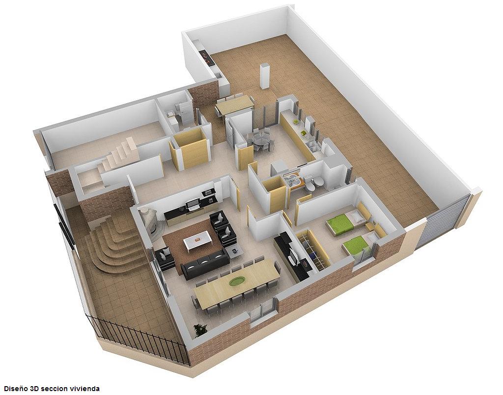 Gruponav o dise o 3d interiores exteriores y secciones for Distribucion de una cocina para restaurante