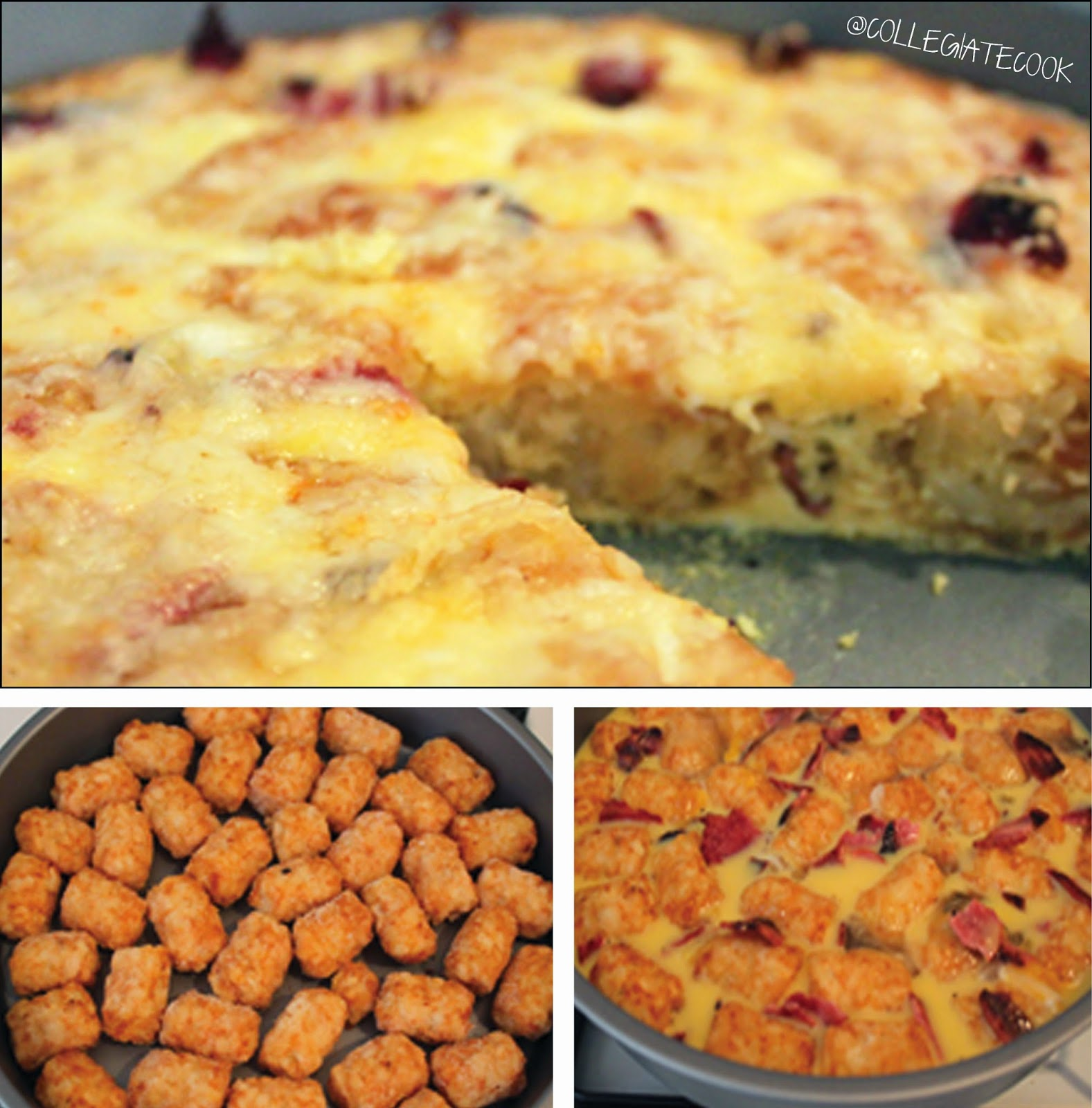 Cheesy Bacon Tater Frittata