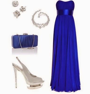 Vestido largo para boda de tarde noche