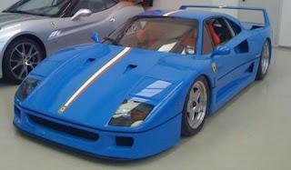 Blue Ferrari F40 Tricolore