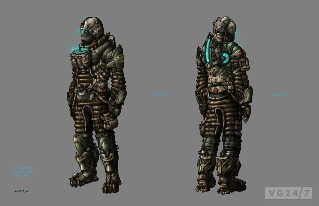 Dead Space 3 concept art shows suits and weapons