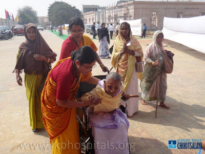 Jagadguru Kripaluji Maharaj charitable hospital's widow treatment program