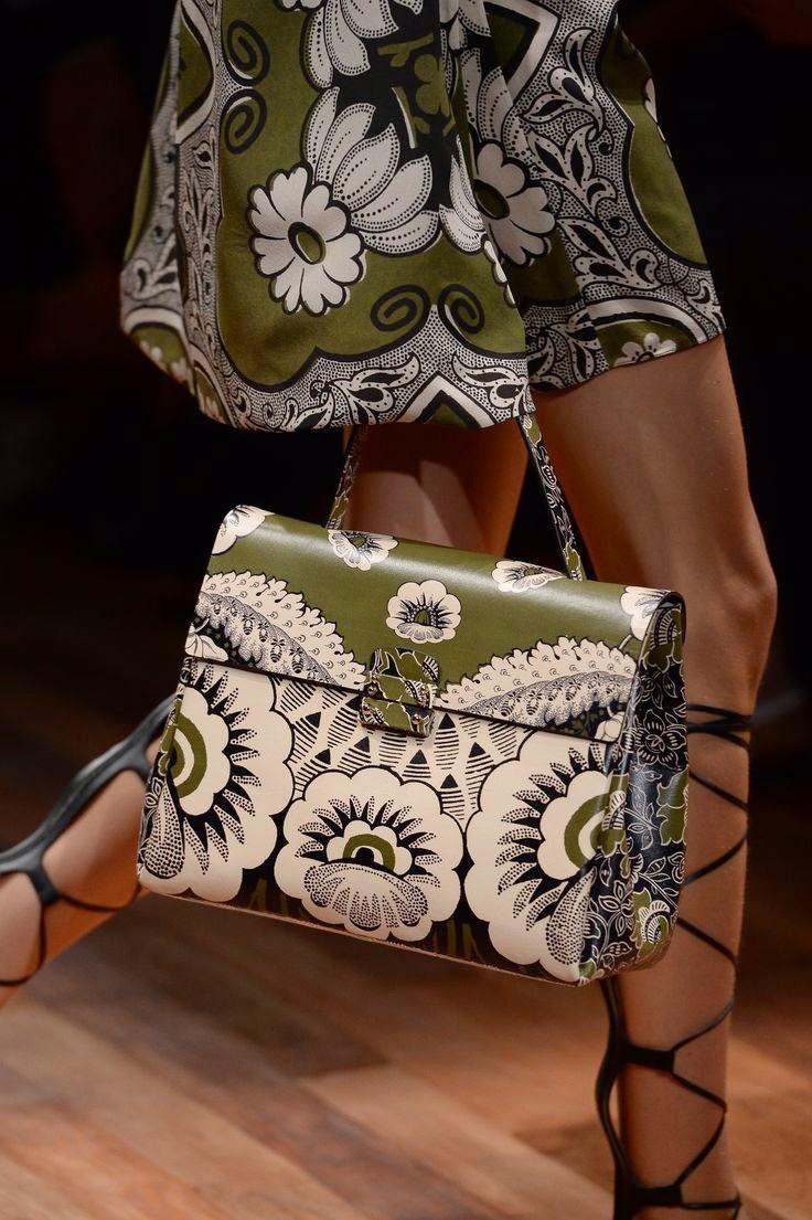 Moda -Tendências 2015 Malas padrão floral