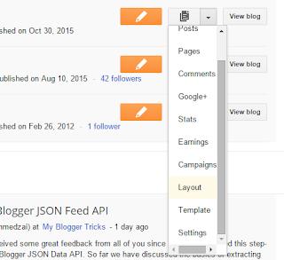 blogger layout