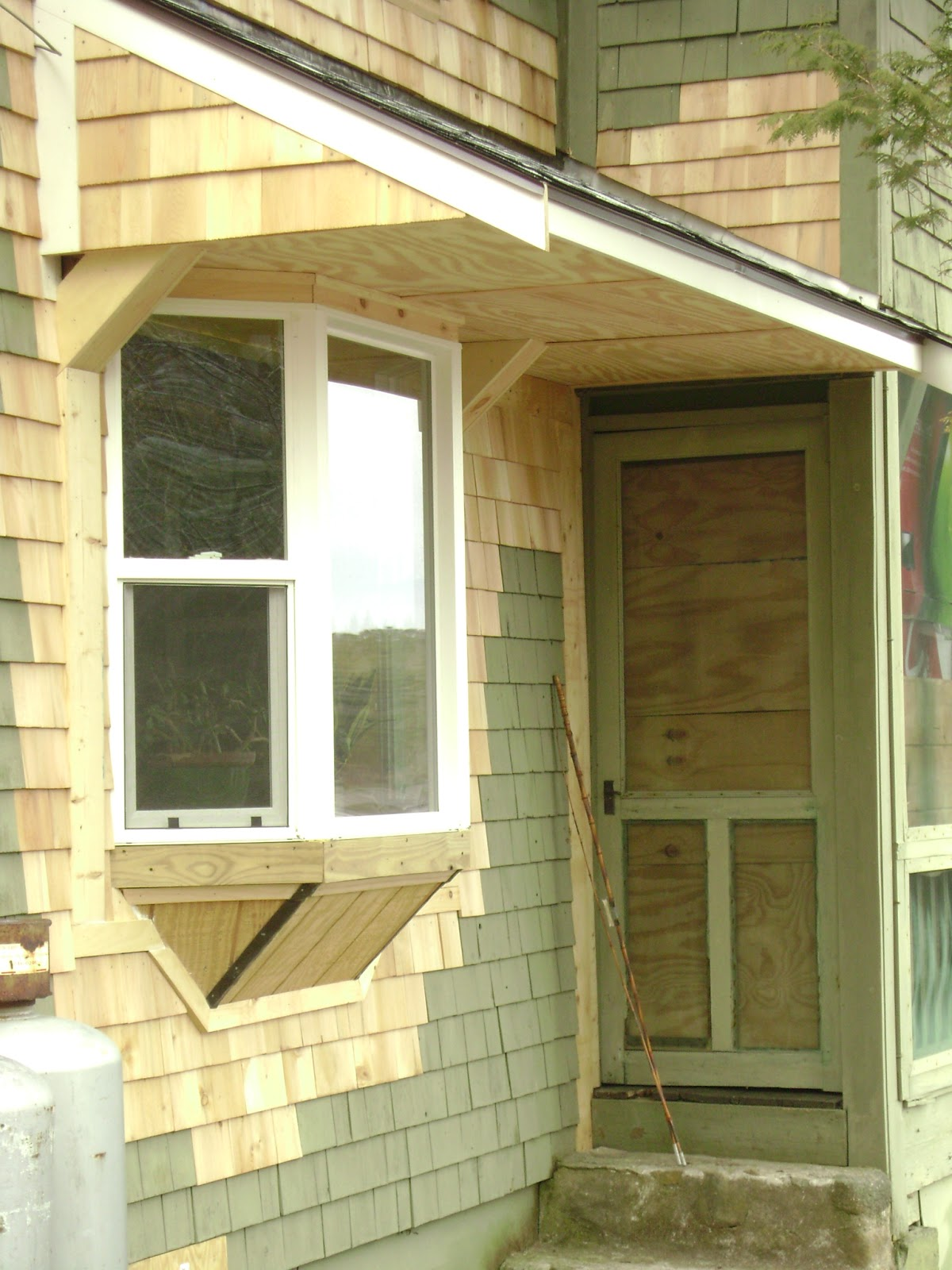 Bay Window Roof : Long pond endeavor company bay window with new shed roof