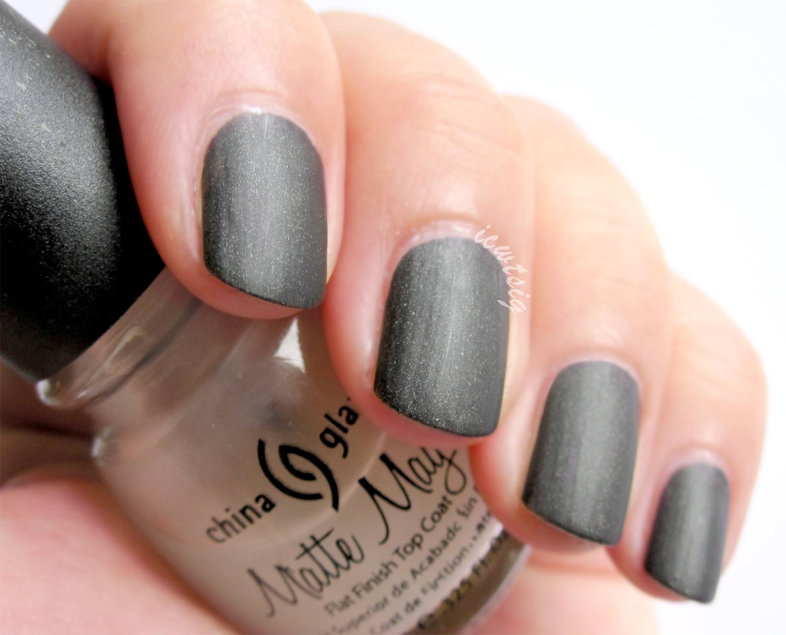 Nail Polish Swatch Review China Glaze Matte Magic Top Coat