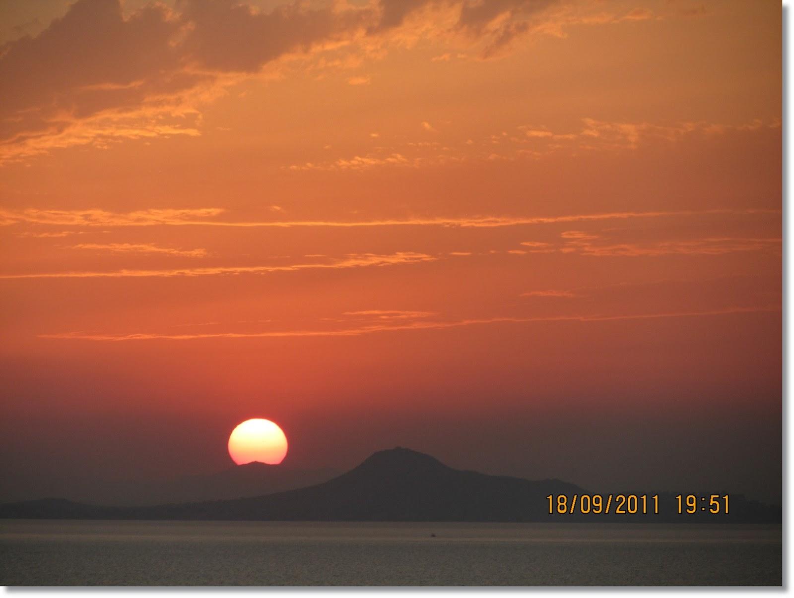 Puesta De Sol En La Manga Del Mar Menor