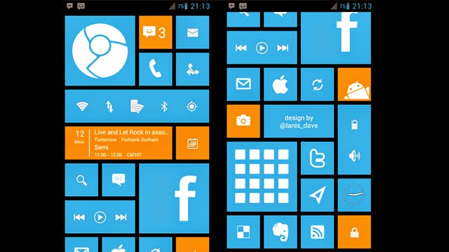 Windows 8 in Android Smartphone