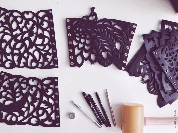 laser cut bracelets in the studio