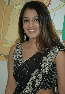 Actress Nikitha in Hot Black Saree Photos