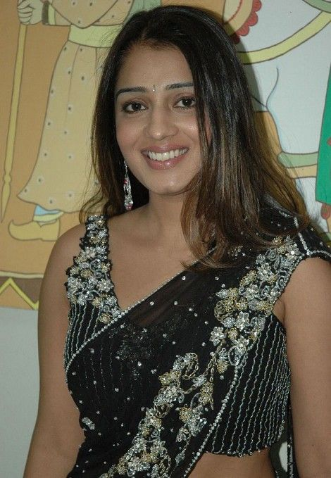 tollywood nikitha black saree actress pics