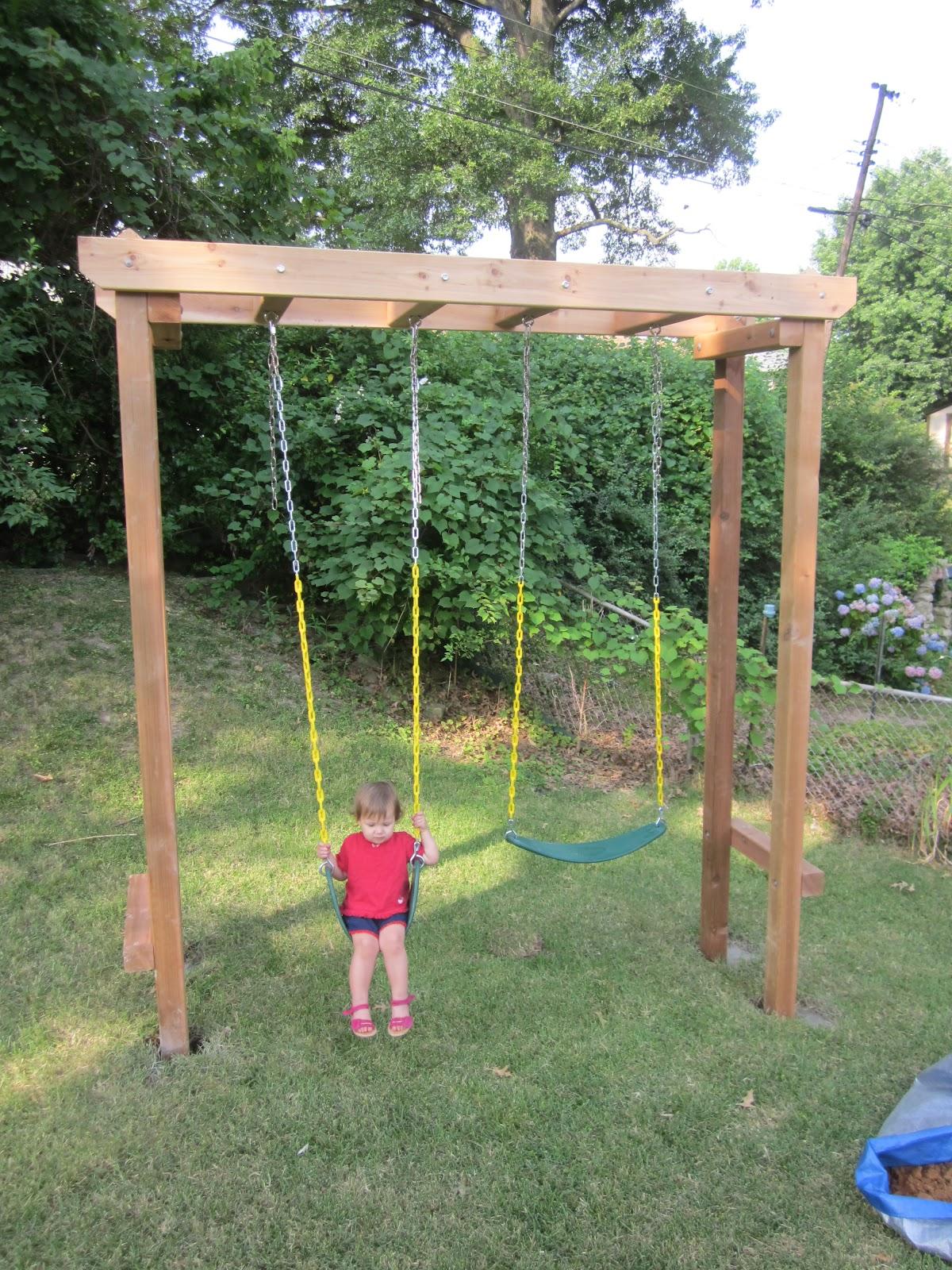 Download Pergola Swing Set Plans PDF Deck