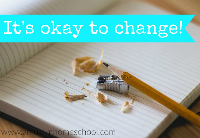 Its okay to change your home school