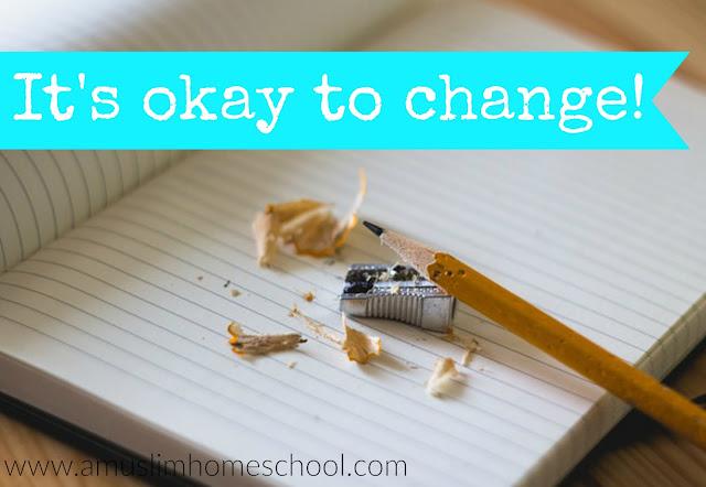 Its okay to change your home school