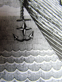 Phlegm comics, book, reading, street art,  anchor, sea, ocean