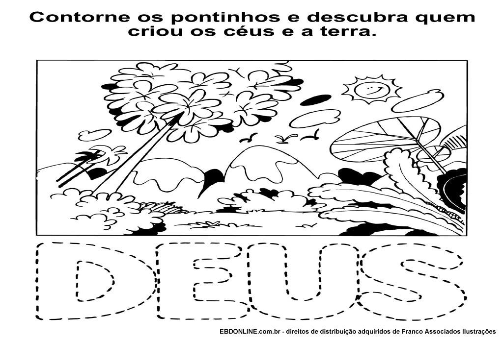 Well-known Histórias Biblícas: ATIVIDADES BIBLICAS - A CRIAÇÃO RF48