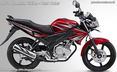 Yamaha Vixion 2011 red