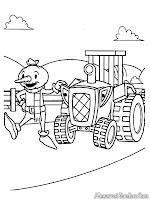 Mewarnai Traktor Bob Si Tukang Bangunan