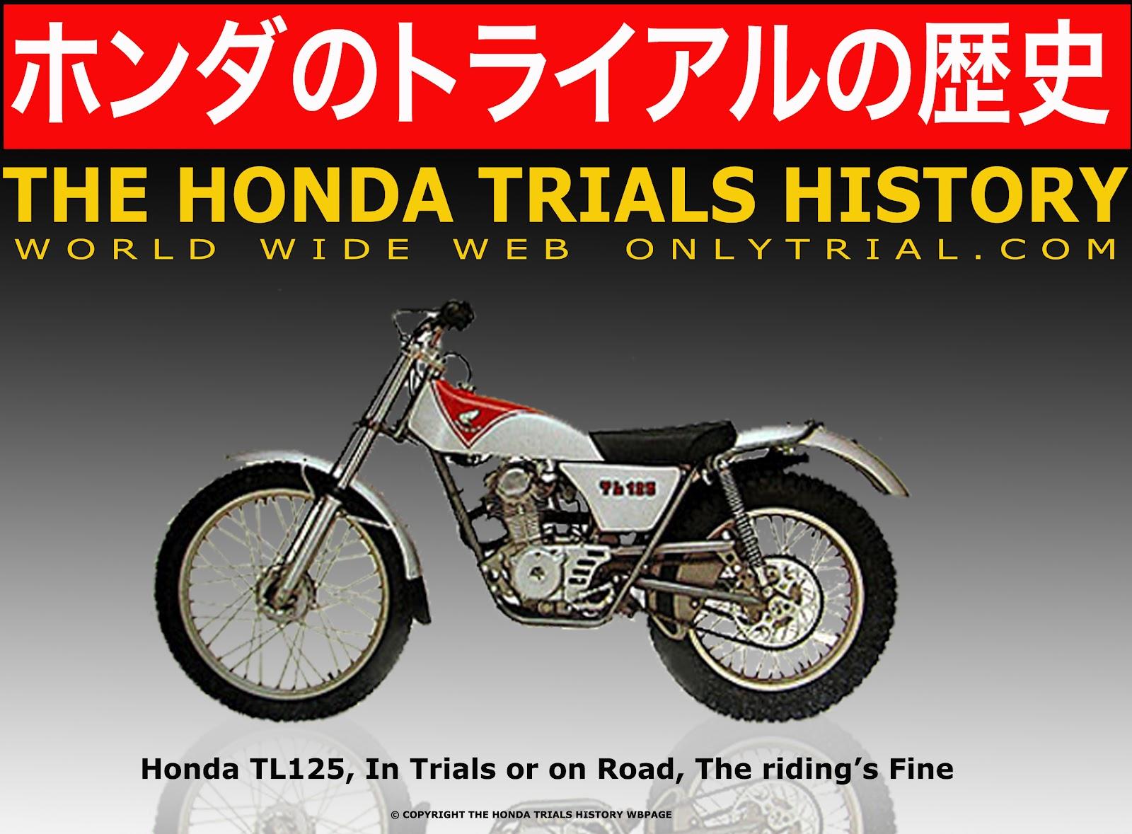 The Honda Trials History 1970 125 Dirt Bike Tl125