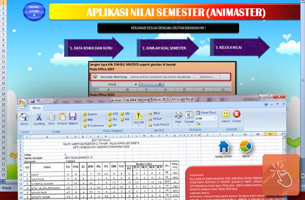 Aplikasi Pengolahan Nilai Semester dengan Microsoft Excel