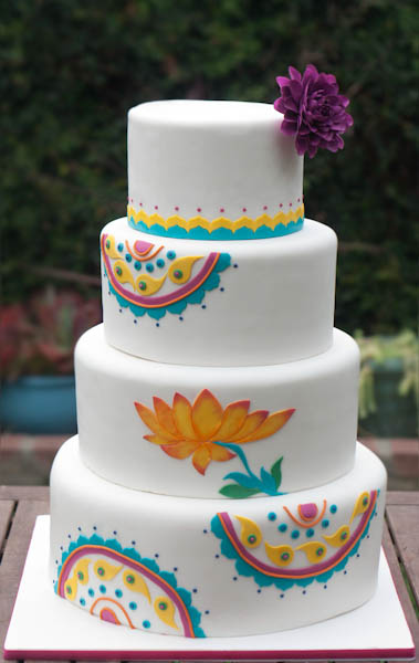 A Modern Indian Wedding Cake Erica OBrien Cake Design Cake Blog