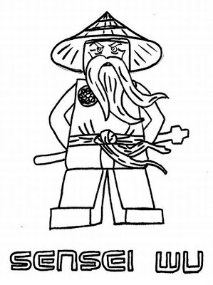 LEGO Ninjago Sensei Coloring Pages