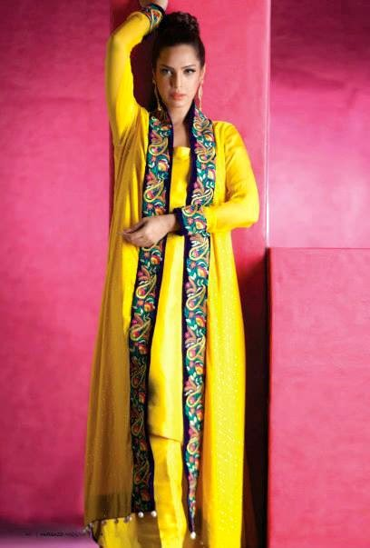 EmbroideredPartyWearDresses2014 wwwfashionhuntworldblogspotcom 02 - Embroidered Party Wear Collection 2014 By Sadaf Amir