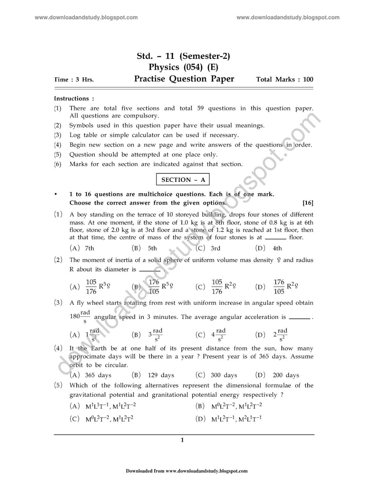 past hsc mathematics papers answers