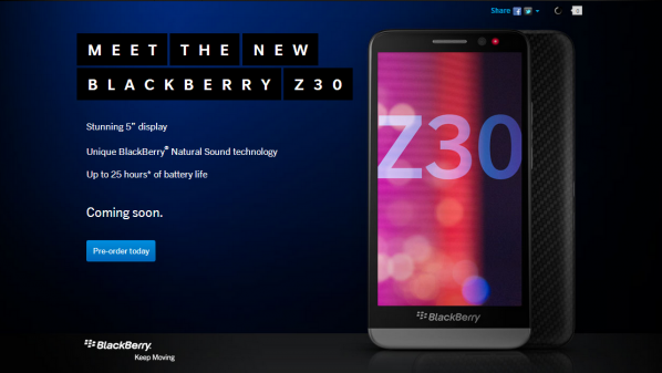Meet The New BlackBerry Z30