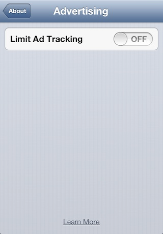Limit Ad Tracking On iPhone